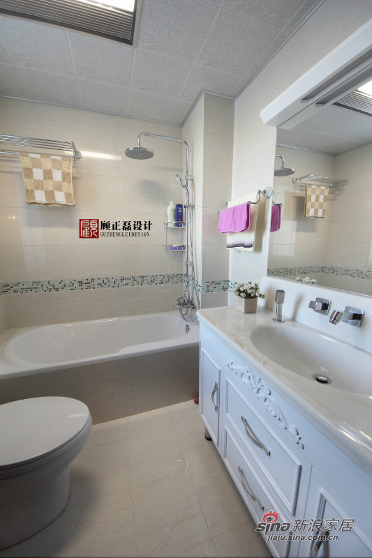 欧式 四居 卫生间图片来自用户2757317061在【高清】四室两厅跃层公寓雅致华丽欧式实景54的分享