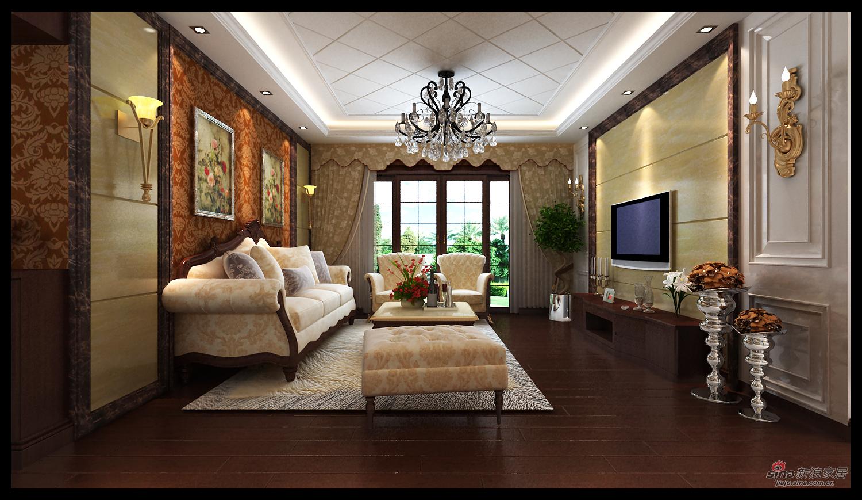欧式 三居 客厅图片来自用户2746869241在华丽大气 113平欧式风情居29的分享