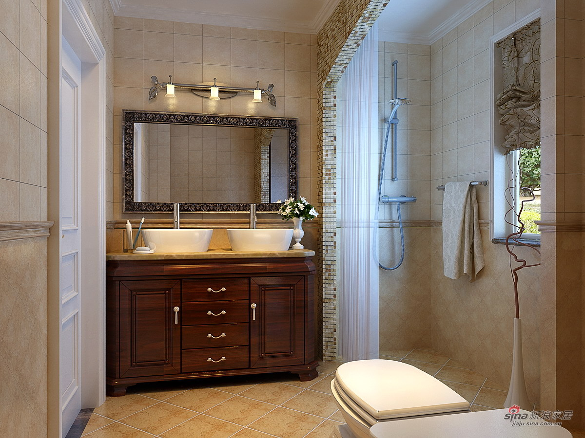 欧式 三居 卫生间图片来自用户2746948411在147平米欧美风格奢华三居66的分享