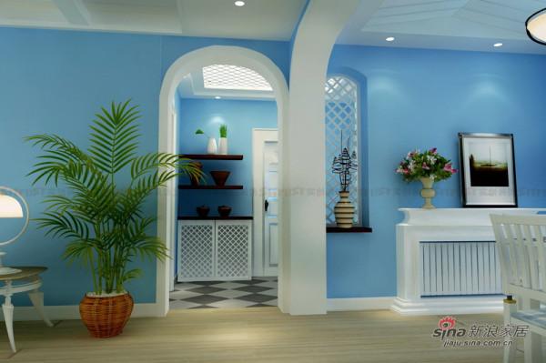 地中海风格装修设计|餐区门厅效果图