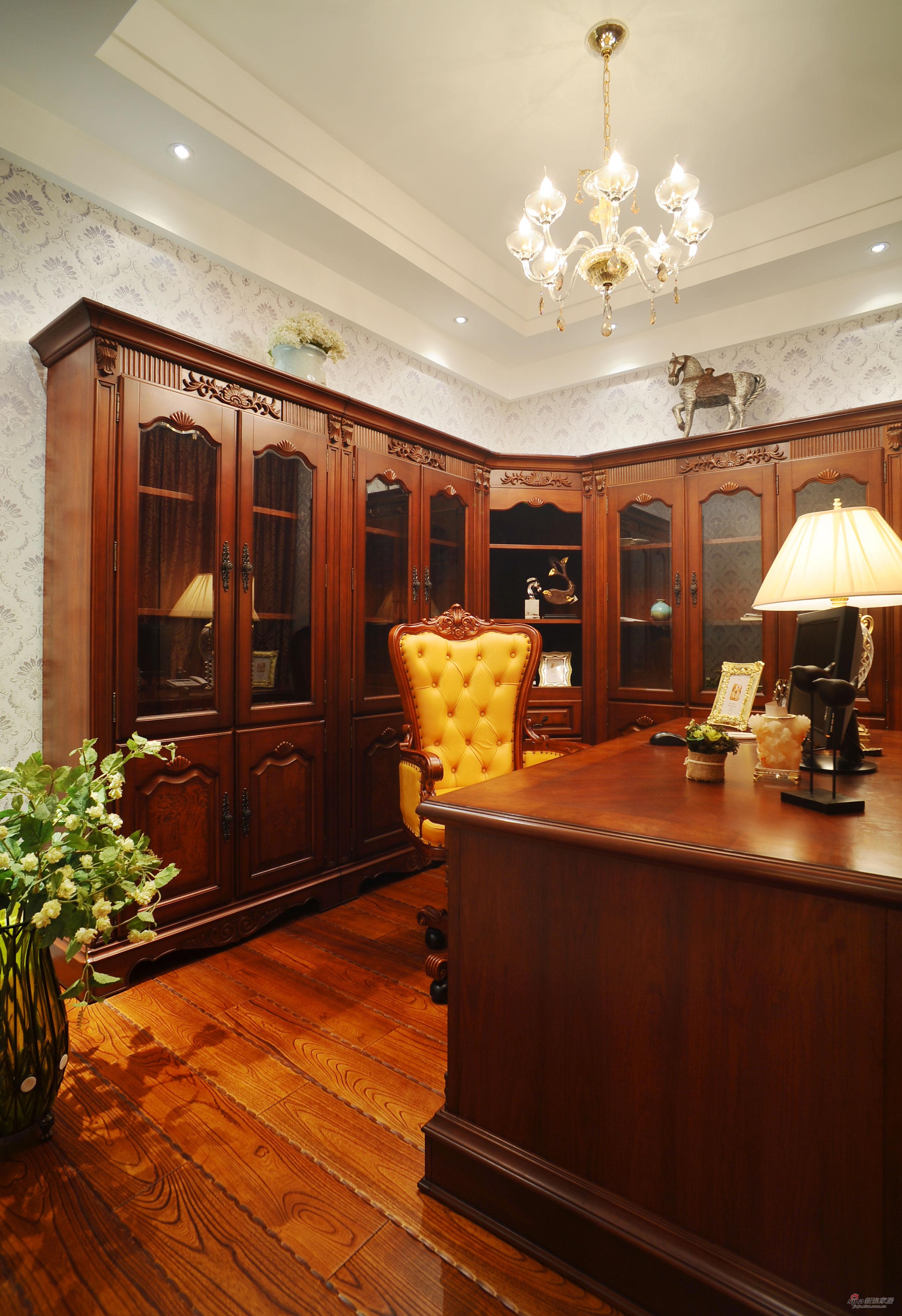 欧式 别墅 书房图片来自用户2746953981在【高清】欧式风格奢华设计399平米大豪宅29的分享
