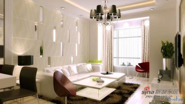 大兴马赛公馆B1户型两居室简约设计效果图