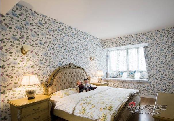 田园 二居 卧室图片来自用户2737791853在碎花田园控4W装95平美家99的分享