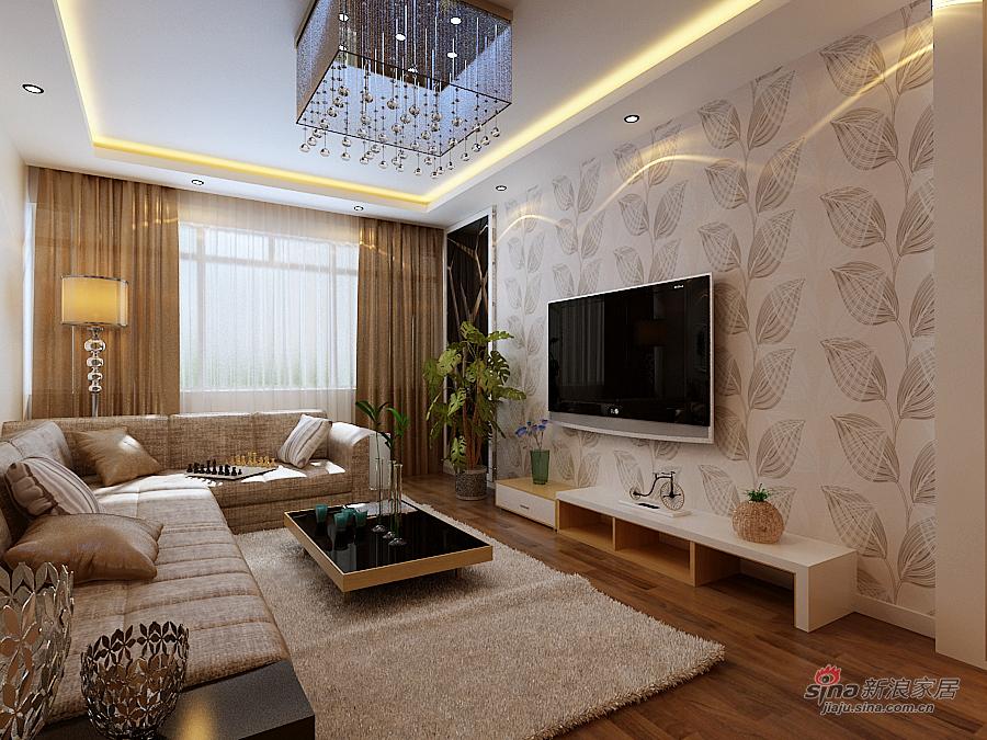 简约 二居 客厅图片来自用户2737786973在9万打造南极国际现代简约两居室74的分享