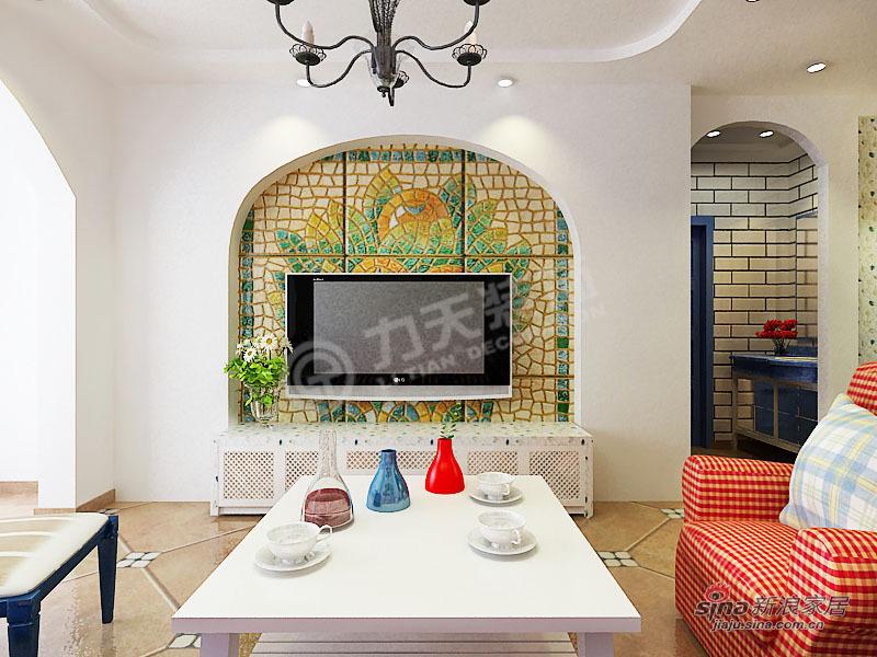 地中海 二居 客厅图片来自阳光力天装饰在两室两厅地中海风格家装设计78的分享