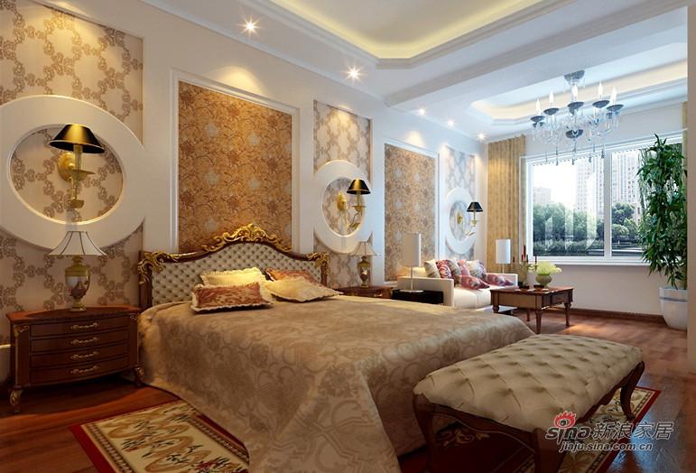 新古典 复式 卧室图片来自用户1907701233在280平古典欧式别墅装修设计79的分享