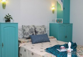 地中海 二居 卧室 小清新图片来自家装大管家在【高清】8万装105平蓝白清爽地中海家72的分享
