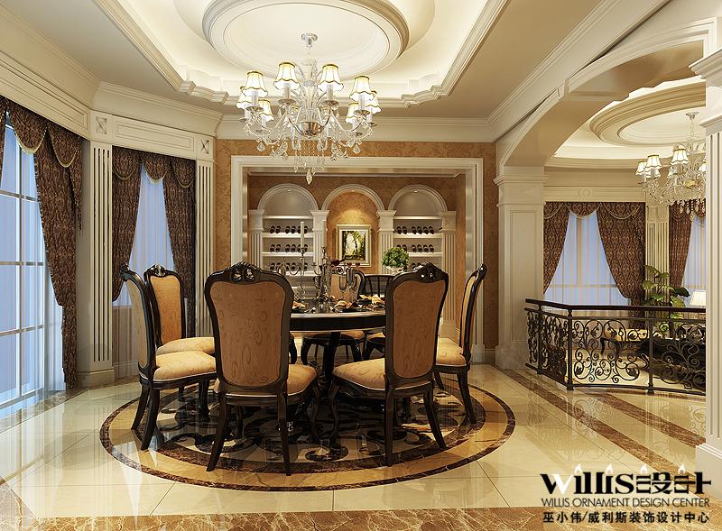 欧式 别墅 餐厅图片来自用户2746869241在苏州常熟市300平米独栋别墅77的分享
