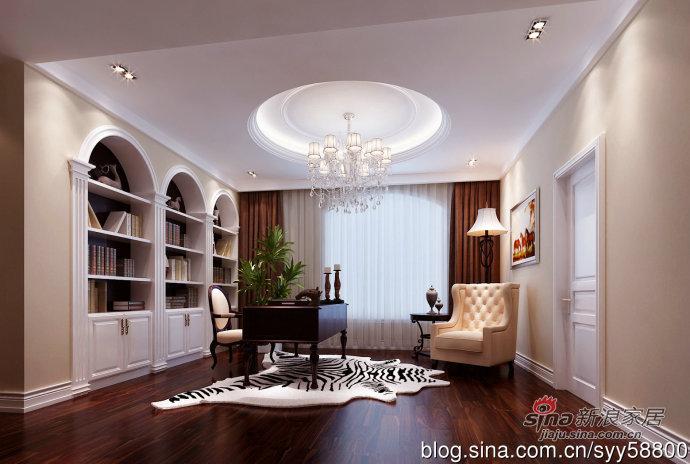 欧式 别墅 书房图片来自用户2772856065在我的专辑868004的分享