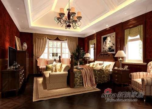 混搭 别墅 卧室图片来自用户1907689327在300平米别墅混搭无限风光26的分享