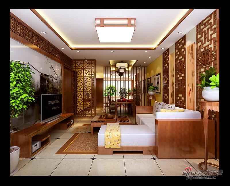 中式 二居 客厅图片来自用户1907662981在5.4万打造80平新中式风格两居91的分享