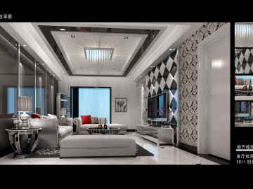 都市白领10万打造时尚简约复式楼68