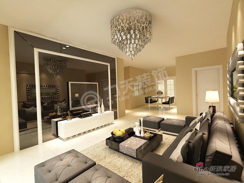 简约 三居 客厅图片来自阳光力天装饰在泽信·金汇湾-3室2厅1卫-现代简约37的分享