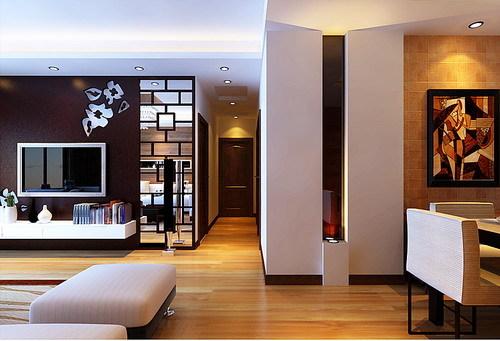 简约 三居 客厅图片来自用户2739081033在平凡男人8.3万装135㎡简约大三居19的分享
