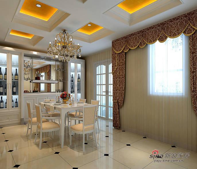 混搭 别墅 餐厅图片来自用户1907655435在【精】160平别墅中西混搭风格13.6万20的分享