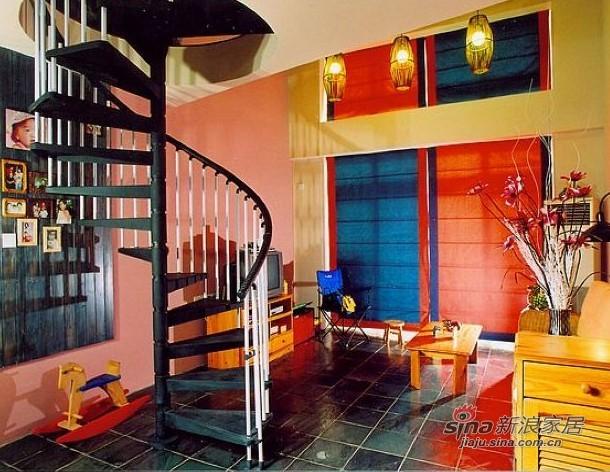 简约 跃层 客厅图片来自用户2557979841在绚丽缤纷时尚跃层住宅97的分享