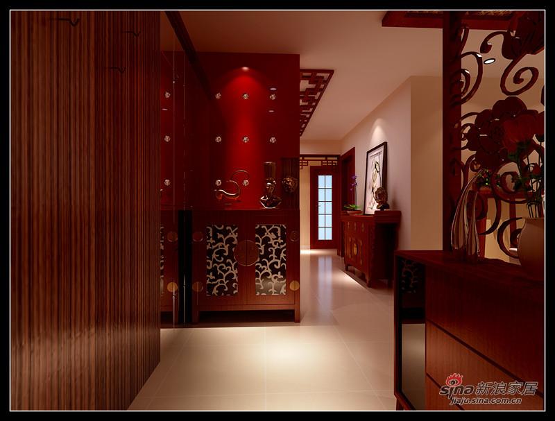 简约 一居 玄关图片来自用户2738845145在9万打造130平现代中式三居室98的分享