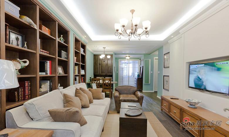 混搭 三居 客厅图片来自用户1907691673在精品简欧实景150平米大三居97的分享