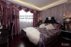 新古典 二居 卧室 温馨图片来自阁韵空间装饰在【高清】9.6万打造88平萄醉馨古典62的分享