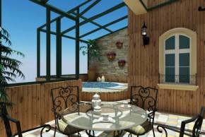 美式 白领 舒适 温馨 自然 80后 高富帅 阳台图片来自北京合建装饰在美式跃层公寓的分享