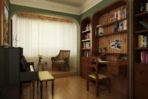 美式 白领 舒适 温馨 自然 80后 高富帅 书房图片来自北京合建装饰在美式跃层公寓的分享