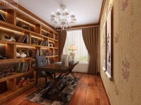 新中式 舒适 高富帅 大气 尊贵 中式 国风 书房图片来自北京合建装饰在喜人的新中式大三居的分享
