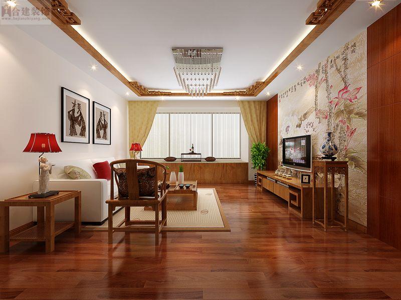 新中式 舒适 高富帅 大气 尊贵 中式 国风 客厅图片来自北京合建装饰在喜人的新中式大三居的分享