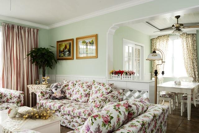 田园 公主房 舒适 温馨 80后 白富美 客厅图片来自北京合建装饰在美美的田园风居室的分享