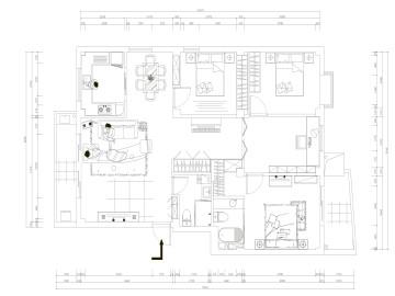 通州颂雅居四居室设计案例