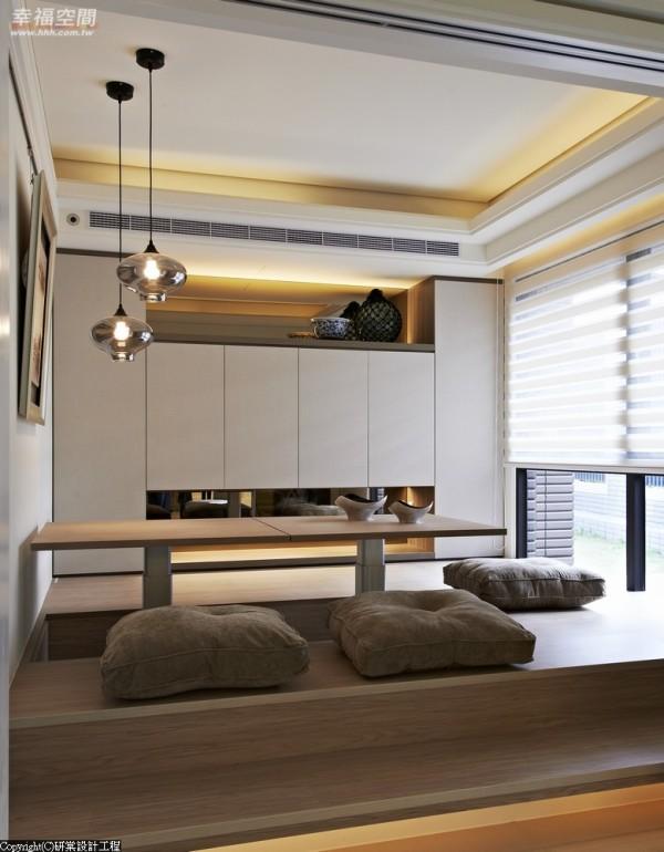 可作升降调整的多功人性空间,让和室一秒钟卧铺轻松变