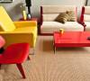 红黄靓丽色彩打造65平时尚宜居