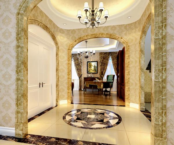 走廊的设计奢华而不浮躁