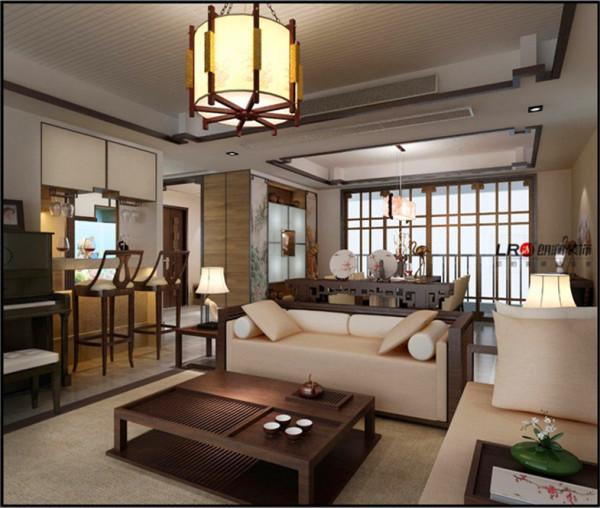 深色中式家具与浅色自然格调的平衡。