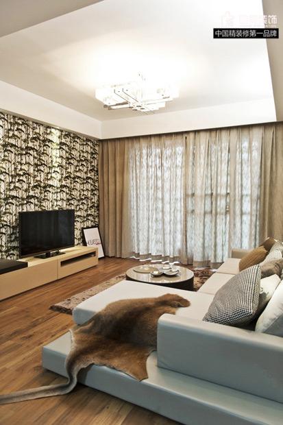简约 三居 客厅图片来自唯美装饰在玫瑰湾素净淡雅3居的分享