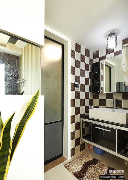 简约 卫生间图片来自唯美装饰在大华铂金府127平简约复式的分享