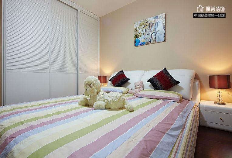 简约 二居 白领 80后 小资 卧室图片来自唯美装饰在中大长江紫都93平红色简约的分享