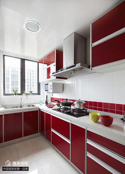 简约 二居 白领 80后 小资 厨房图片来自唯美装饰在中大长江紫都93平红色简约的分享