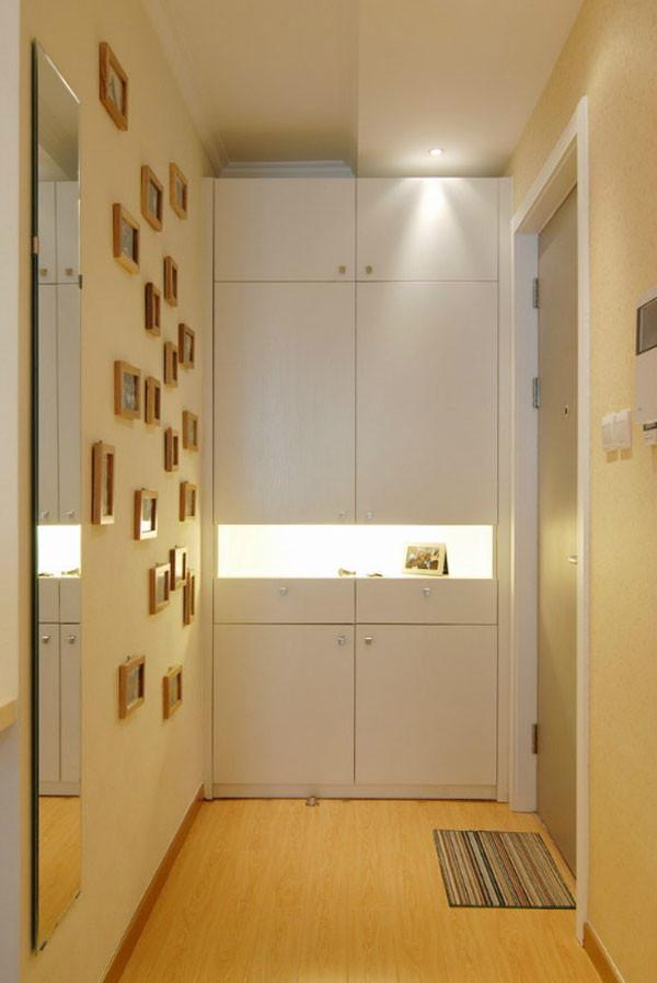 媒体村小区-现代简约-一居室-装修案例设计说明——入户门