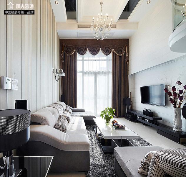 简约 客厅图片来自唯美装饰在大华铂金府127平简约复式的分享
