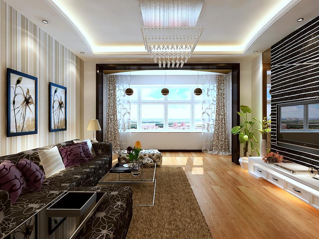 简约 时尚 二居 白领 收纳 旧房改造 阳台 客厅图片来自北京实创装饰集团在90平两居老房改造,时尚简约风格的分享