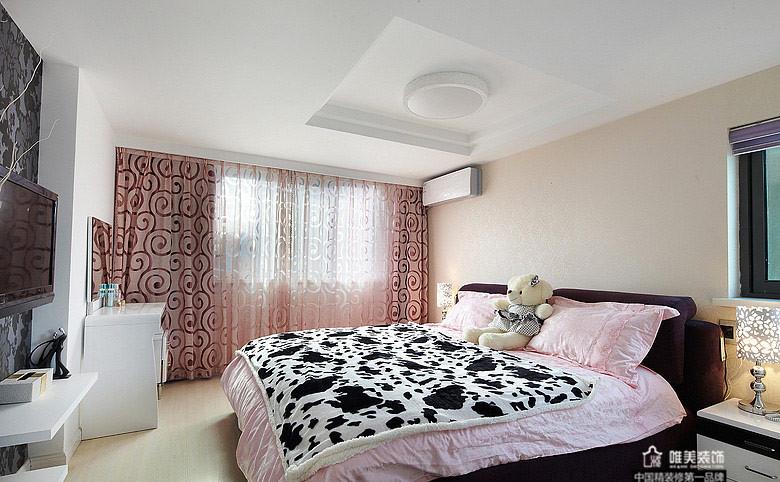 简约 卧室图片来自唯美装饰在大华铂金府127平简约复式的分享