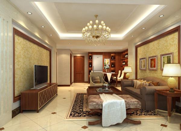 京贸国际城157平米--客厅