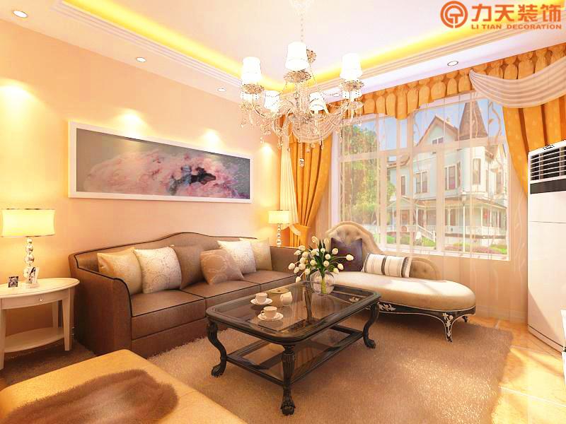 欧式 三居 客厅图片来自阳光力天装饰在中央学府-94㎡-简欧风格的分享