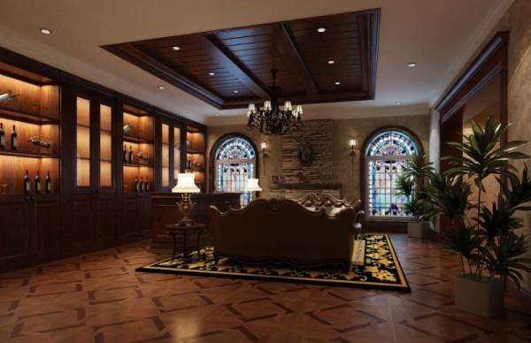 这个图片是酒窖装修的案例,客户的需求空间很强,总是给业主一个不一样拼酒空间!