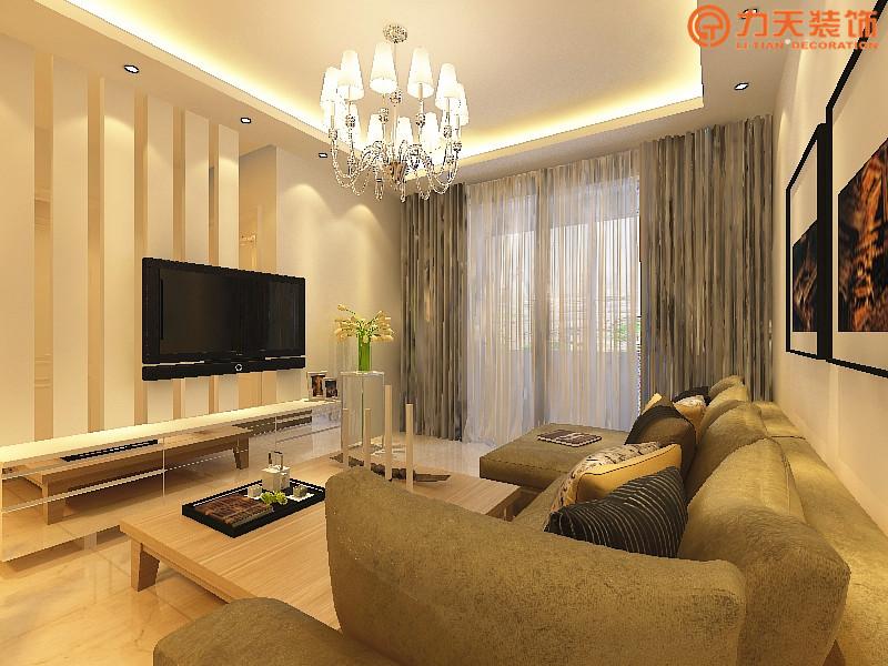 简约 二居 客厅图片来自阳光力天装饰在星河荣御-78㎡-现代简约的分享
