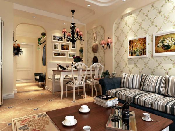 简洁的家具,质地舒适的织物,赏心悦目的挂画,工艺品,植物的合理选择与布置,配合灯光的有效设计,共同构成整个住宅陈设配饰的基本元素,营造了清新田园,自然的氛围。