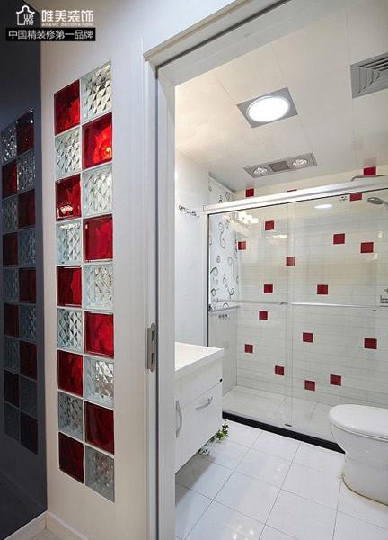 简约 二居 白领 80后 小资 卫生间图片来自唯美装饰在中大长江紫都93平红色简约的分享