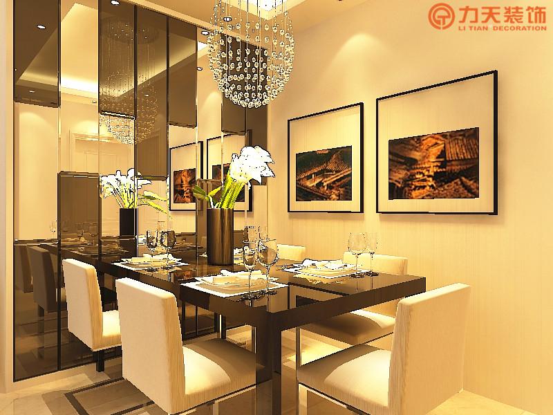 简约 二居 餐厅图片来自阳光力天装饰在星河荣御-78㎡-现代简约的分享