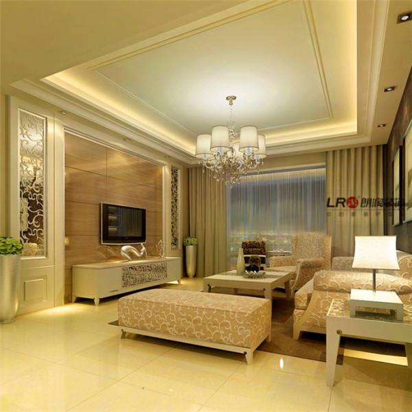 客厅造型舒畅,整洁、明亮。