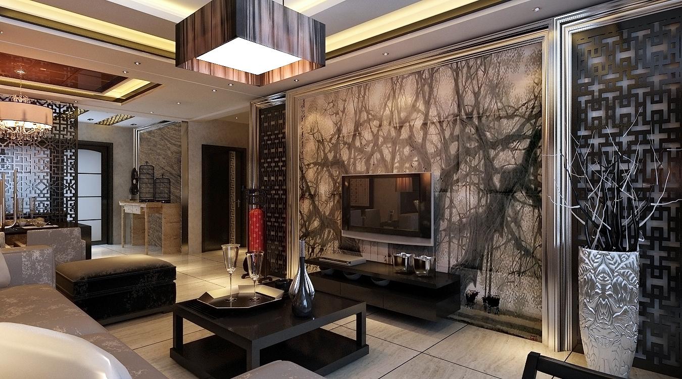 现代中式 三居 客厅 餐厅 客厅图片来自百家装饰-小敬在保利康桥的分享